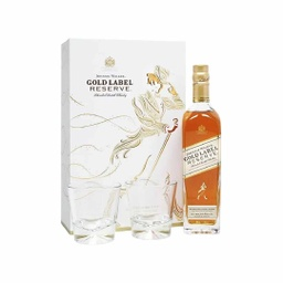 [3289] JOHNNIE WALKER GOLD LABEL RESERVE 750ml + 2 VASOS